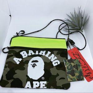 Bape Bape 1st Camo College Sacoche Bag
